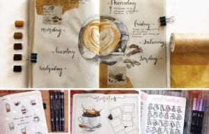 Coffee is a beloved drink. Most people drink or enjoy some form of coffee daily. Here are around 20 coffee-inspired bullet journal layouts!