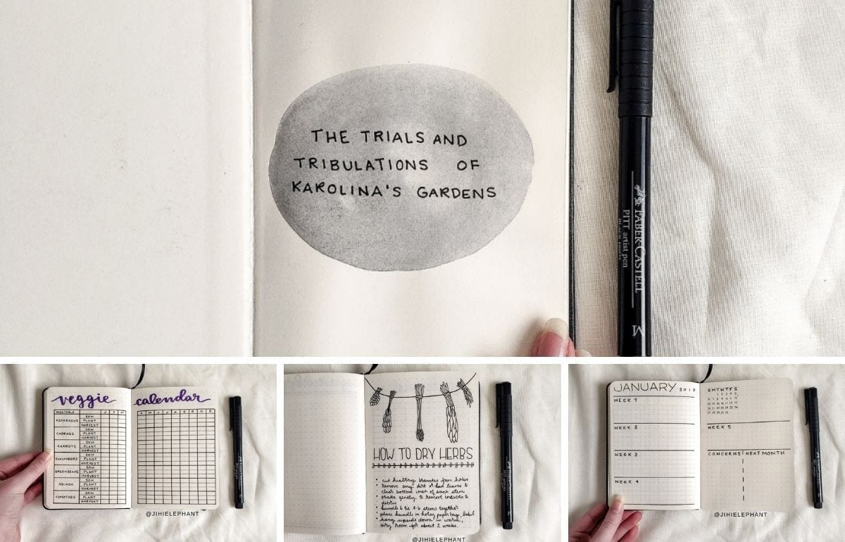 featured image karolina bullet journal plan with me includes a grid of previewed images