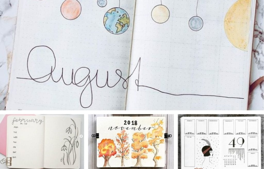 featured collage bullet journal theme ideas
