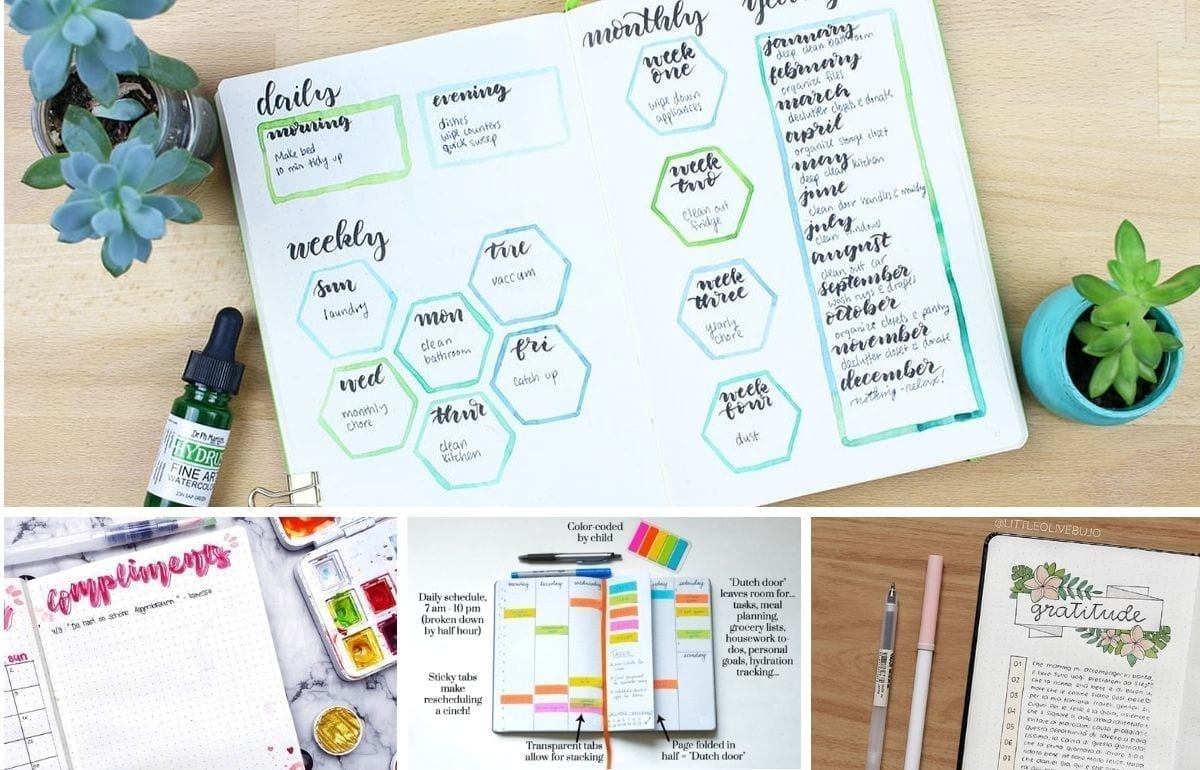 Being a parent is a full-time job and can be a very crazy job too. Here are 20 bullet journaling spreads perfect for a busy mom or busy dad!
