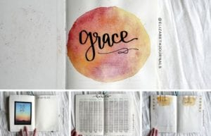 For Grace's grief journal, I used many different colors. Further, the layouts involved include quote pages, Bible verse pages, quarterly habit trackers...
