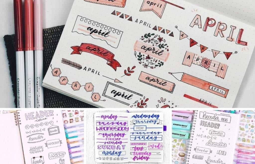 Headers are an understated, yet huge part of bullet journaling. Check out these amazing bullet journal header ideas organized by month.
