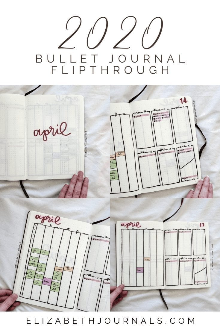 This post will be a brief overview of my bullet journal layout for April 2020. For this month's theme, I decided to use my new chalk paint pens!