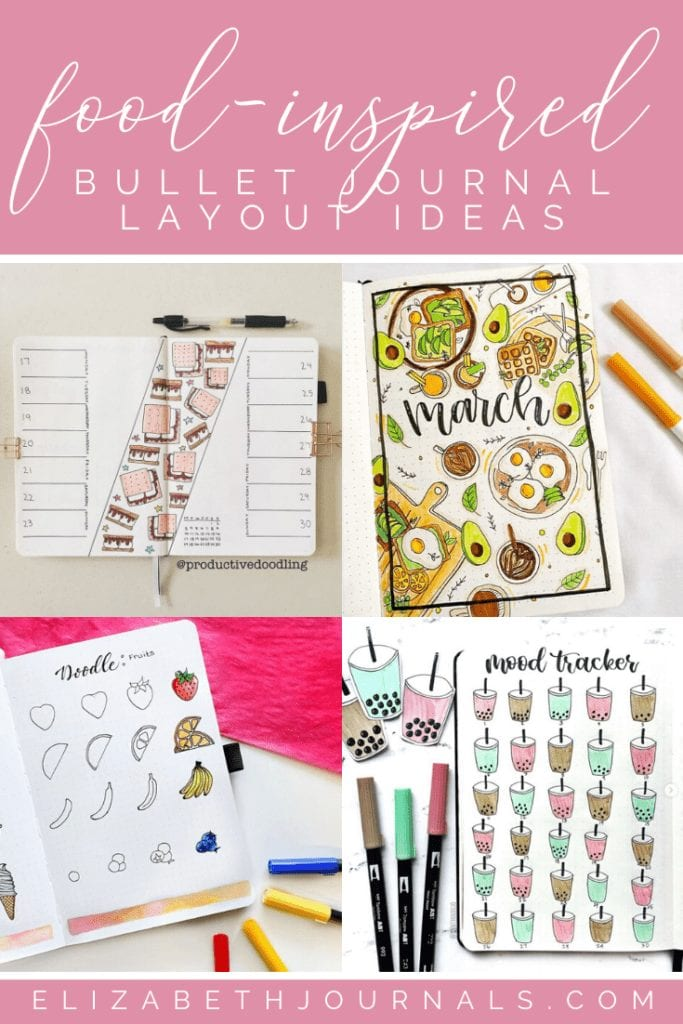 One theme I have never really thought about using is food. I have never considered using food as a theme for my planner, but after running into quite a few food-inspired layouts on Instagram, I am in love. Check out these amazing food-inspired bullet journal layouts.