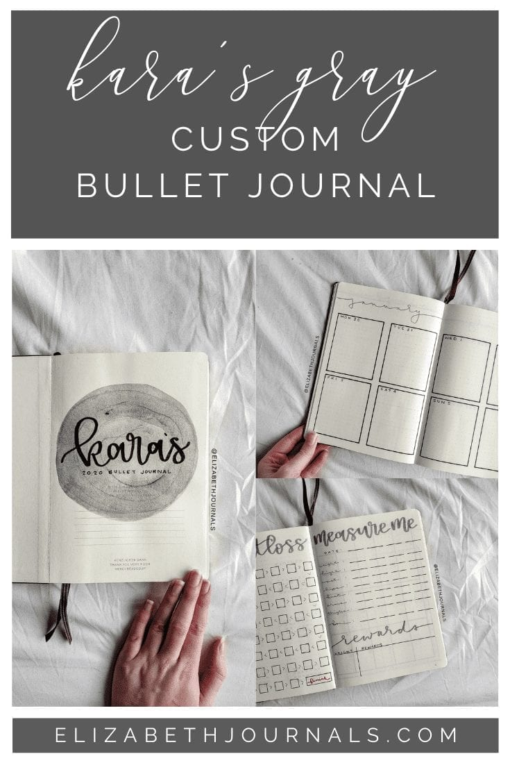 If you've ever thought about starting a bullet journal, check out this super simple gray set-up which was created for Kara!