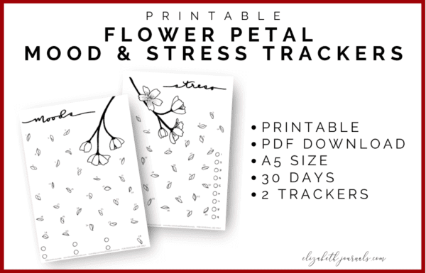Do you love a great floral theme? This flower petal mood and stress tracker combo fit perfectly into any bullet journal or planner! Additionally, all imagery is completely hand-drawn! These bullet-journal-inspired downloads can be printed off and added to any planner or journal. Instantly download the PDF of these designs once you purchase the listing. You will get one download to use immediately!