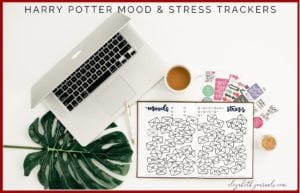 Are you a harry potter fanatic? This Harry Potter-themed mood and stress tracker combo fit perfectly into anyone's planner! Additionally, all imagery is hand-drawn. These bullet-journal-inspired downloads can be printed off and added to any planner or journal. Instantly download the PDF of these designs once you purchase the listing. You will get one download to use immediately!