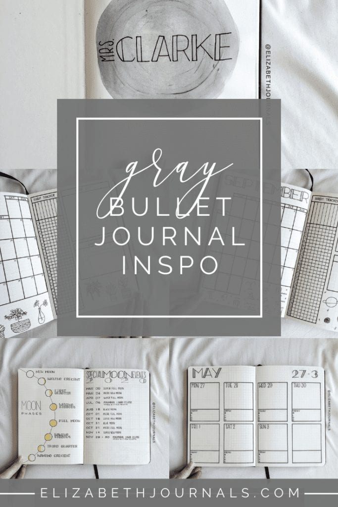 This custom bujo for Katie includes moon and dream layouts such as mood phases, monthly log, monthly memories log, and monthly dream and lunar log.