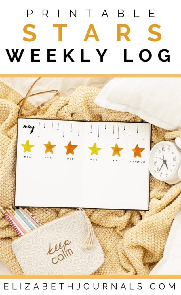Do you enjoy a good space or star-themed bullet journal printable spread? This weekly log includes hand-painted watercolor artwork and designs...