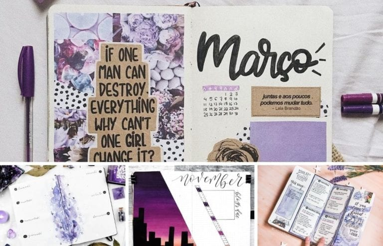 Purple is an incredibly popular color choice for bullet journalers. For this reason, here are some purple bullet journal layouts to help you get inspired.