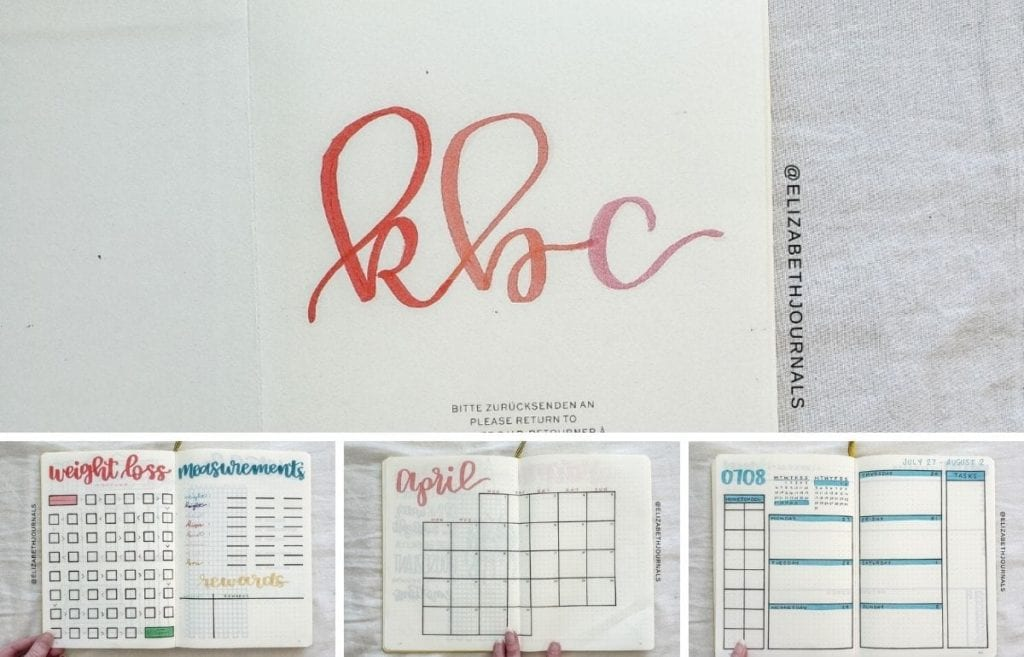 Here is a video of me creating this rainbow custom bullet journal for Katie as well as a breakdown of the tools used and each layout concept.