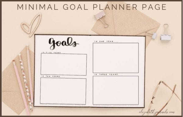 Goals can be very difficult to create and keep track of. However, this minimal goal planner is sure to help you easily organize complex goals and keep them all in one place. This layout is based on a completely hand-drawn spread. These bullet-journal-inspired downloads can be printed off and added to any planner or journal or downloaded and used in any digital planner. Instantly download the PDF of these designs once you purchase the listing. You will get one download to use immediately!