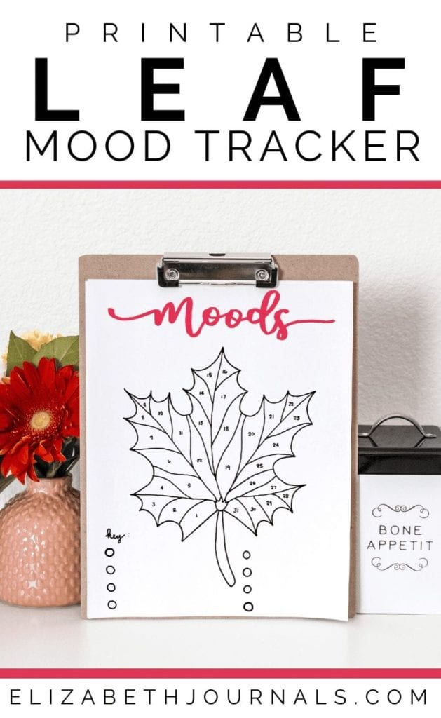 If you love nature and want to track your moods, this leaf mood tracker layout is perfect for you and anyone wishing to add some style to their planner!