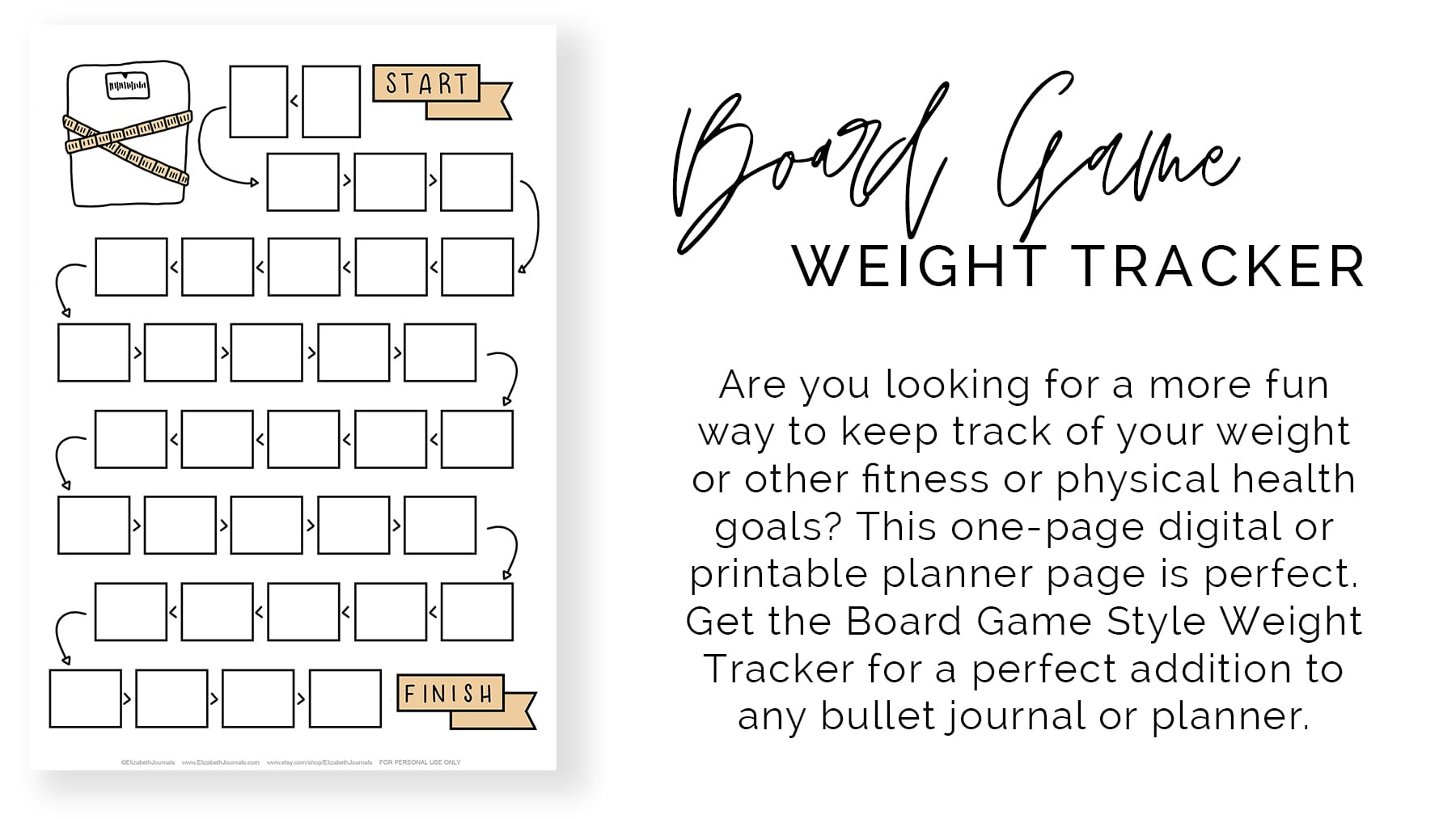 banner-board game weight tracker-product description
