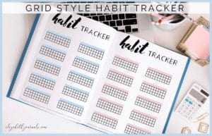 Looking for a simple yet cute way to keep track of your habits? This grid-style habit tracker is perfect for tracking your habits and goals every month.