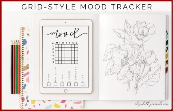 If you love minimal bullet journals, then this mood tracker will make a perfect addition to your digital or printable planner.