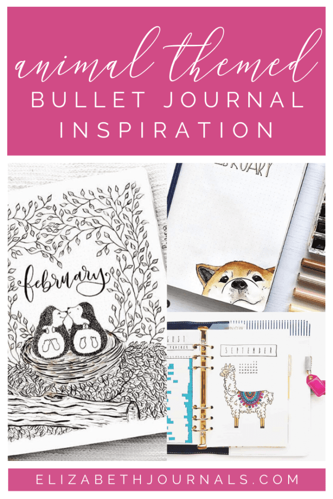 Most people love animals. So, whether you are a cat person, dog person, or neither, here are 20+ animal-themed bullet journal layouts to inspire you!