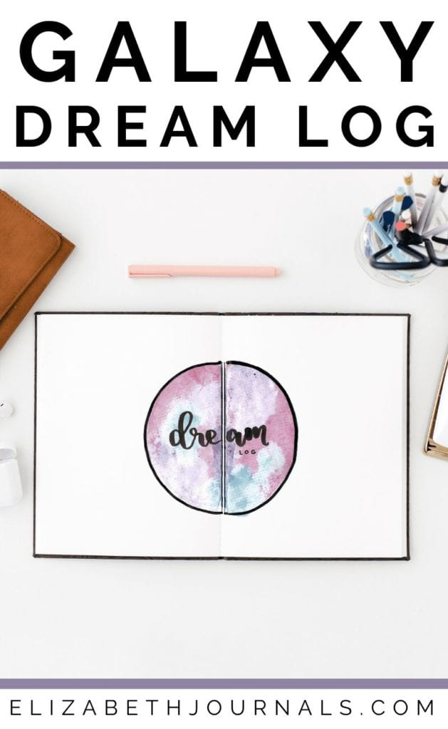 Are a big fan of the galaxy-themed planners you see on Instagram? Log your dreams in a fun galaxy watercolor dream log spread.