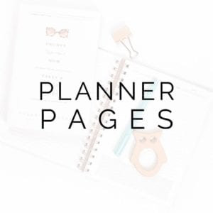 Digital & Printable Planner Pages