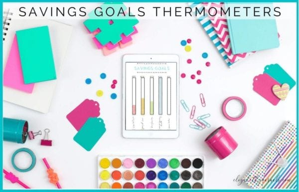 Saving money can be a difficult task, but is well worth it. This thermometer savings goal tracker will help you track your savings and stay on track.