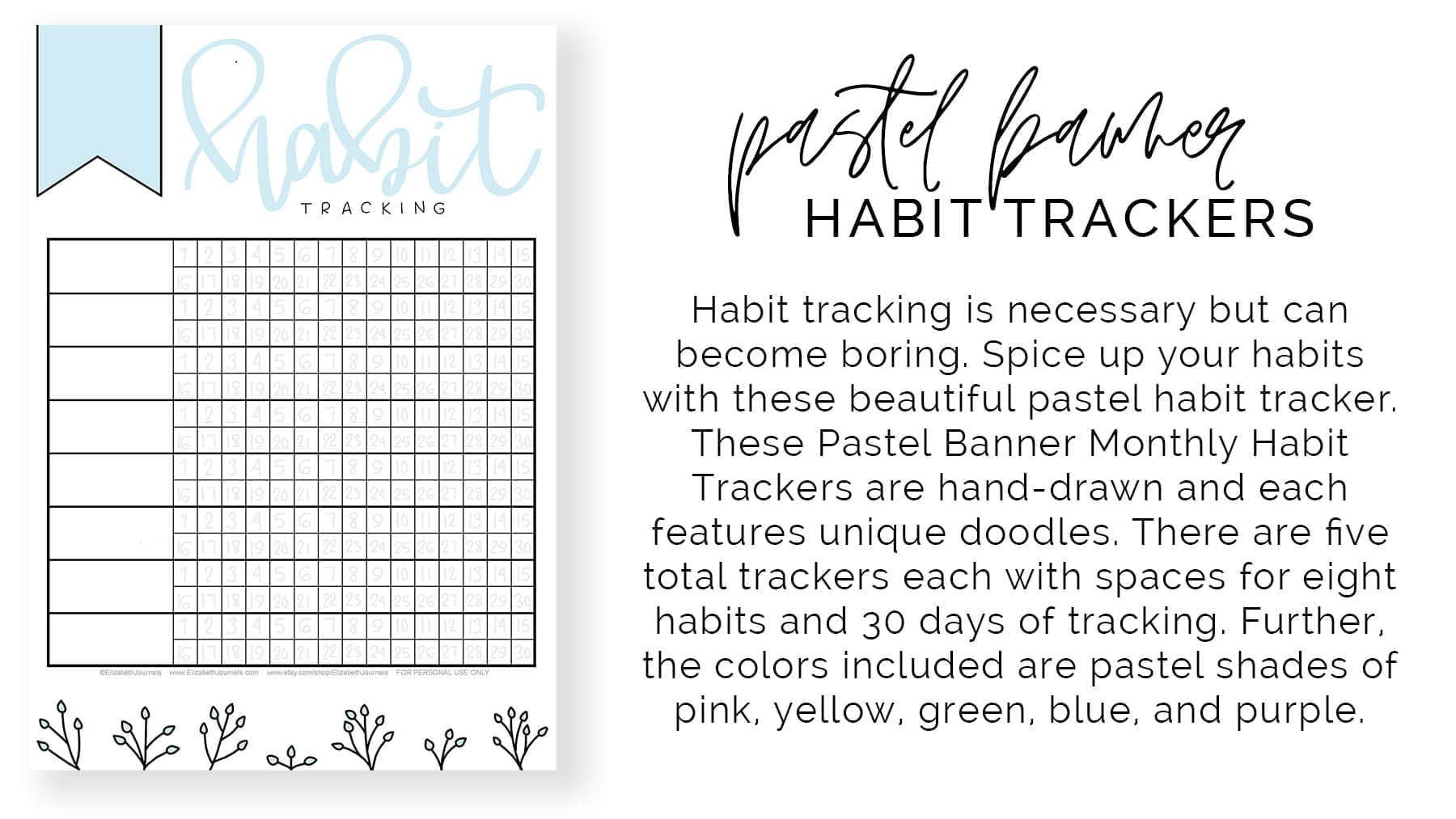 banner 1-product preview-pastel banner monthly habit tracker-product description