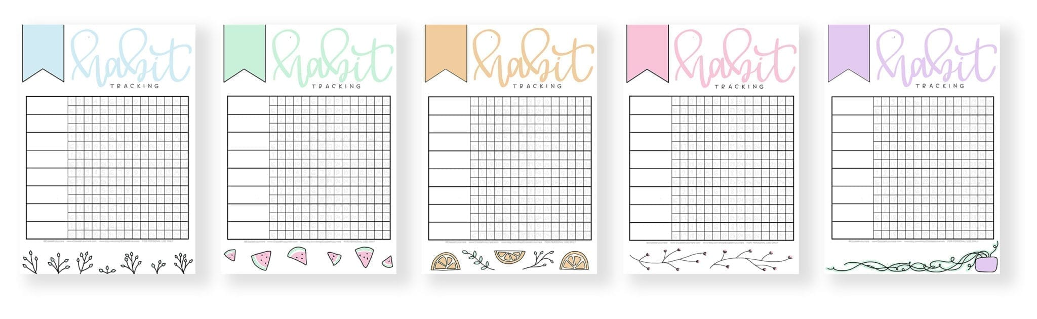 banner 2-preview 5 versions of the habit tracker