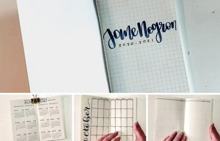 Jane's dark blue Pocket Planner is perfect for easy use because it fits in bags, pockets, and more! Let's take a look at Jane's planner!