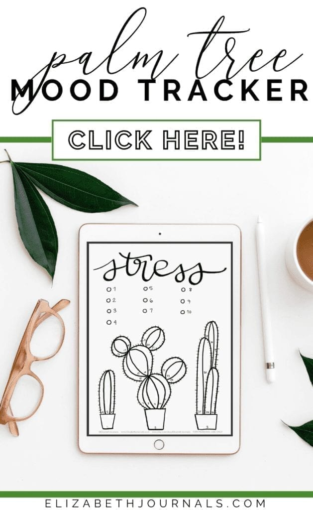 If you are looking to add nature to your planner, this cactus mood and stress tracker combo is a perfect for you!