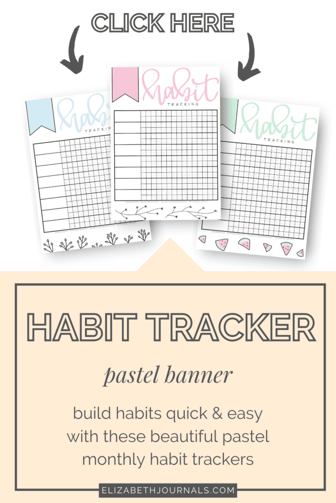 Habit tracking is necessary but can become boring. Spice up your habits with these beautiful Pastel Banner Monthly Habit Trackers!