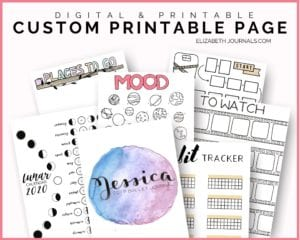 Listing image_digital and printable_custom printable page_elizabethjournals_shows various examples of custom requests