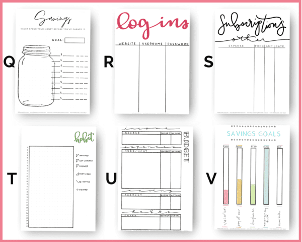 Do you love the idea of printable planning pages, but can't find anything that suits your needs? Get one made custom and tailored to your needs. You can choose from any of our printable planner pages to start or request something completely new and made just for you! Then you can customize the font, color, paper size, and more!