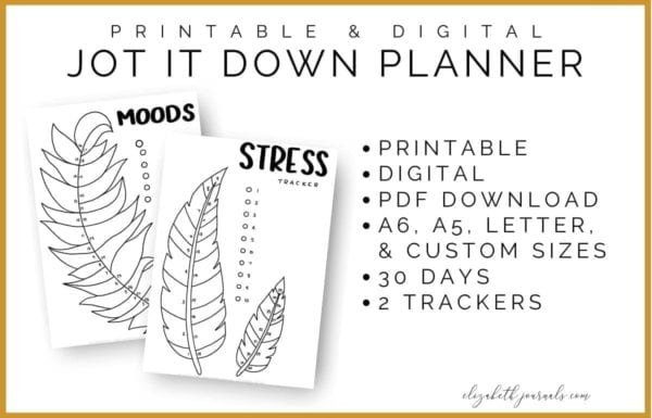 If you are looking to include some mysticism to your planner these feather-themed mood and stress trackers will fit perfectly for you!