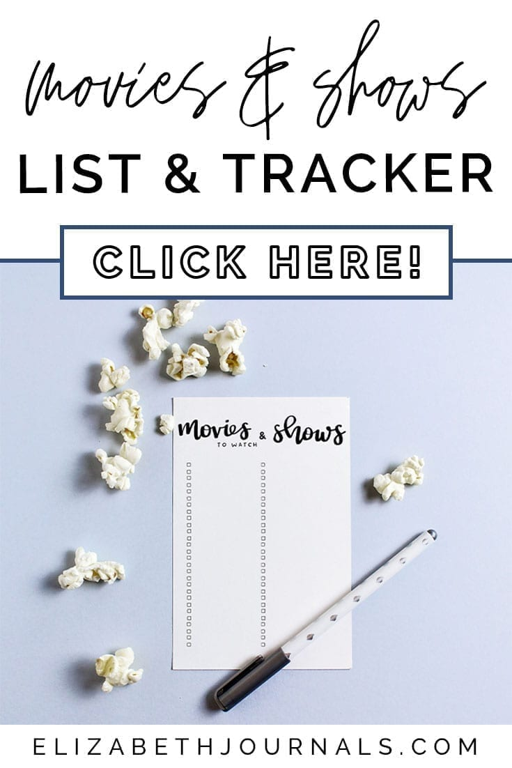 pinterest image 1-movies and shows list and tracker-click here-paper mockup with popcorn and pen-elizabethjournals