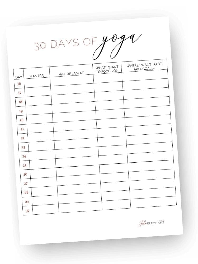 preview image: 30 days of yoga worksheet/tracker