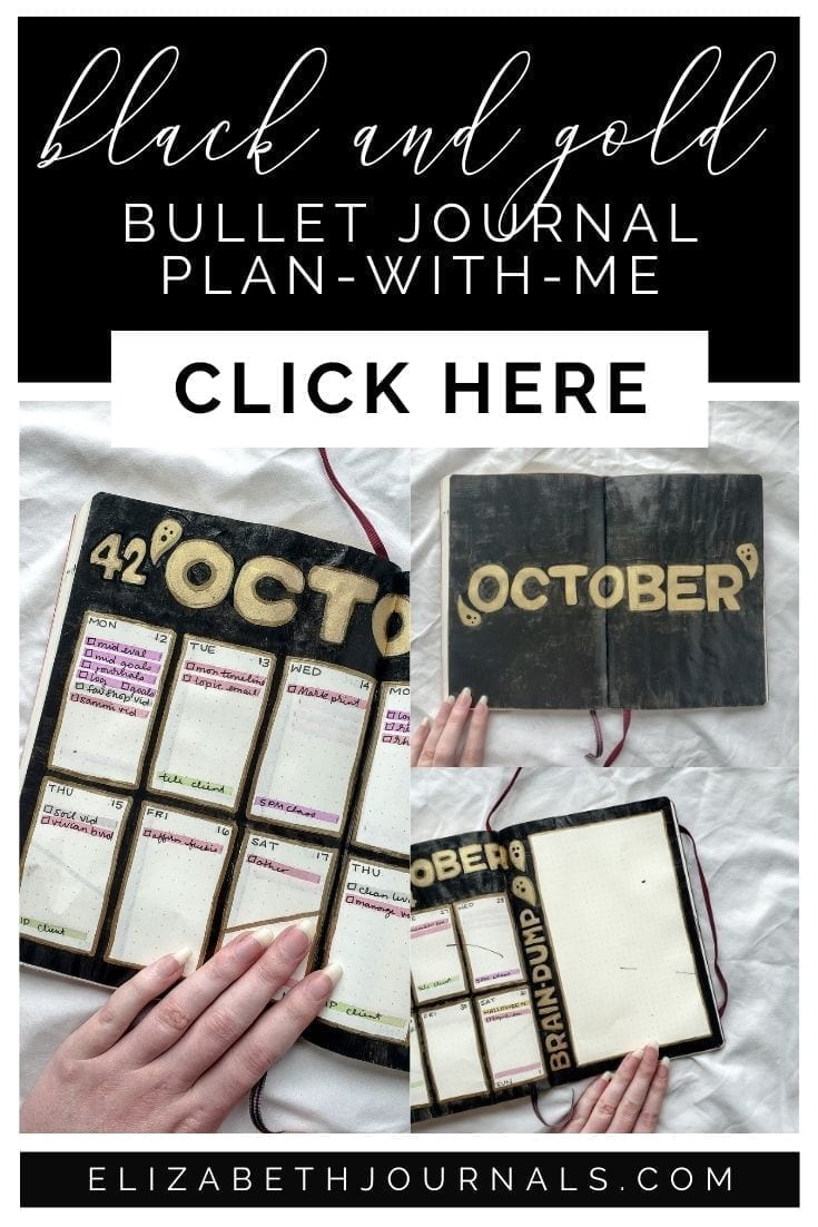 This year, I went with a black and gold theme instead of pumpkins. Continue reading for more on my theme choice and layouts!