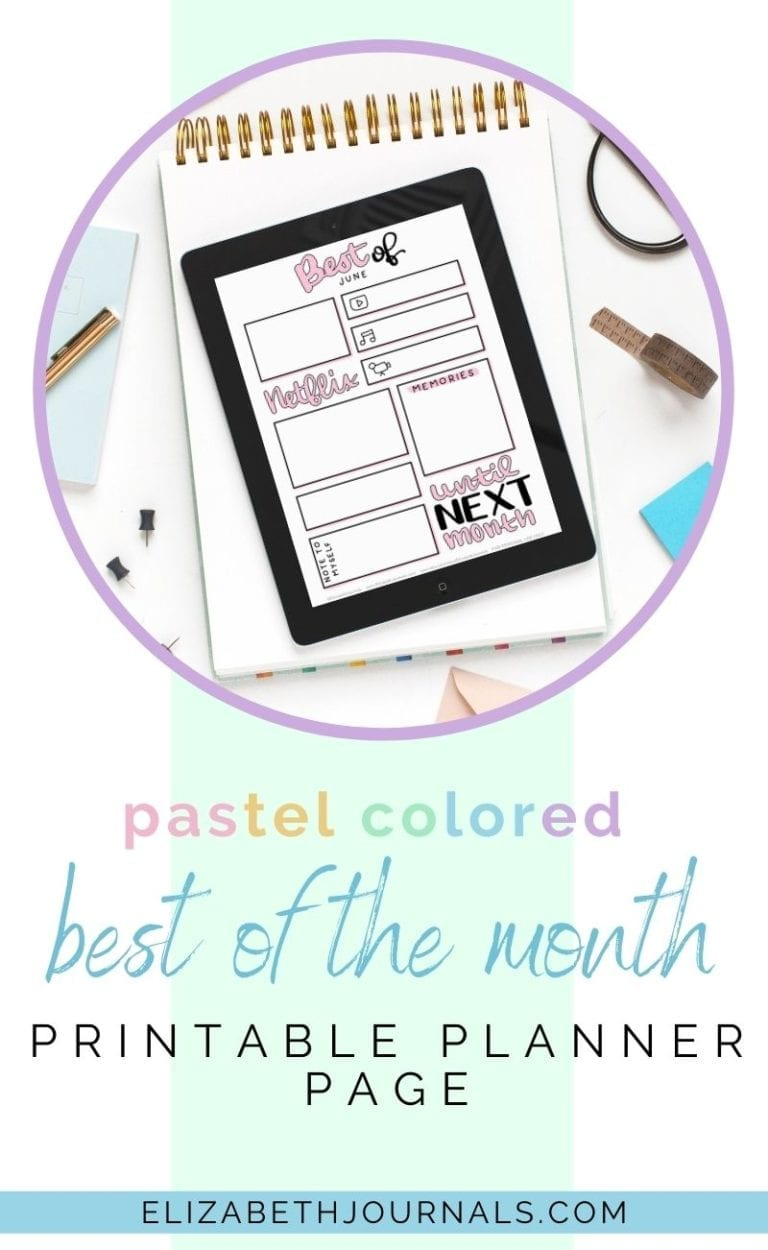 Your planner is a great way to review a previous time in your life. Look back at life with these pastel Best of Month Monthly Review layouts.