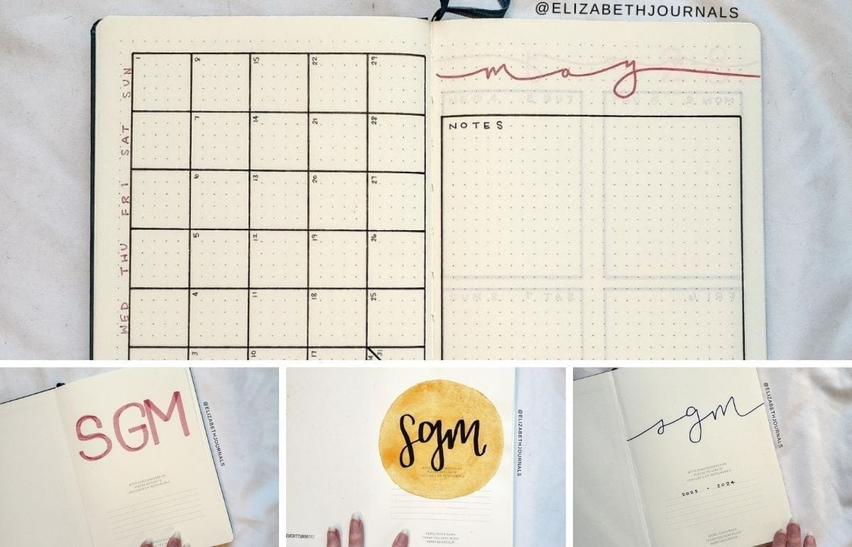 Here is a breakdown of the custom bullet journal inspired planners for 2021 - 2024 created for Stephanie. Check out each notebook, including a title page, monthly log, and weekly log.