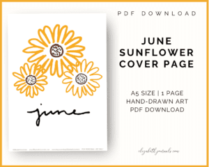 june sunflower cover page_pdf download_a5 size_1 page_undated_handdrawn art
