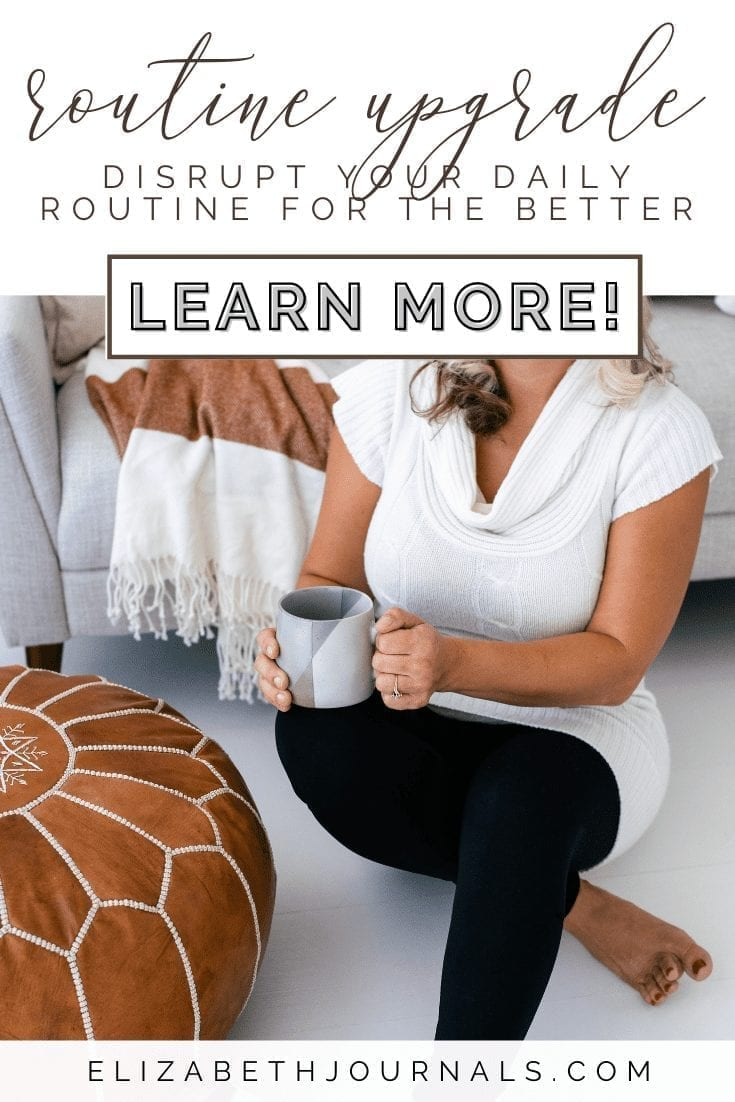 Are you finding yourself a little too bogged down? This article will give you a few tips on how to disrupt your routine in a healthy way.