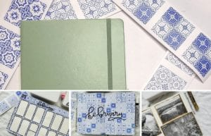 featured image: delft inspired bullet journal february 2021