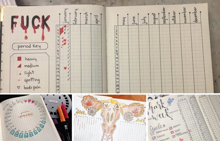 featured image_collage of 4 different period trackers