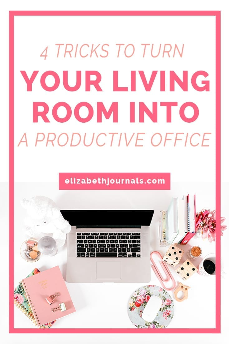 pinterest image 1-4 Tricks To Turn Your Living Room Into an Ambitious Productive Office-pink desktop scene