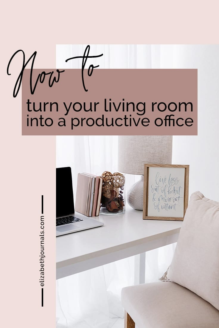 pinterest image 2-4 Tricks To Turn Your Living Room Into an Ambitious Productive Office-desk in living room