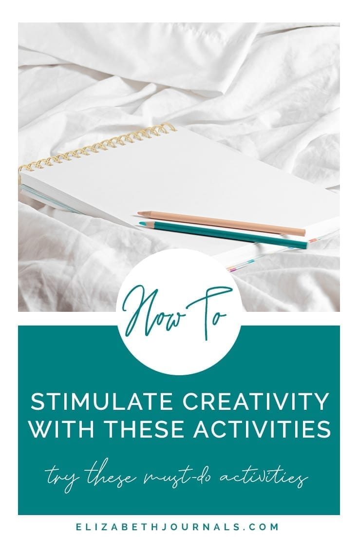 pinterest image 2-how to stimulate creativity with these activities-mockup of doodle book-try these must-do activities