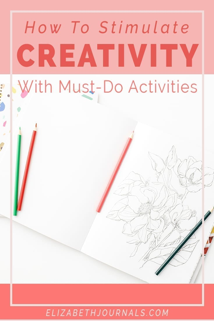 pinterest image-how to stimulae creativity with must-do activities-mockup of coloring book