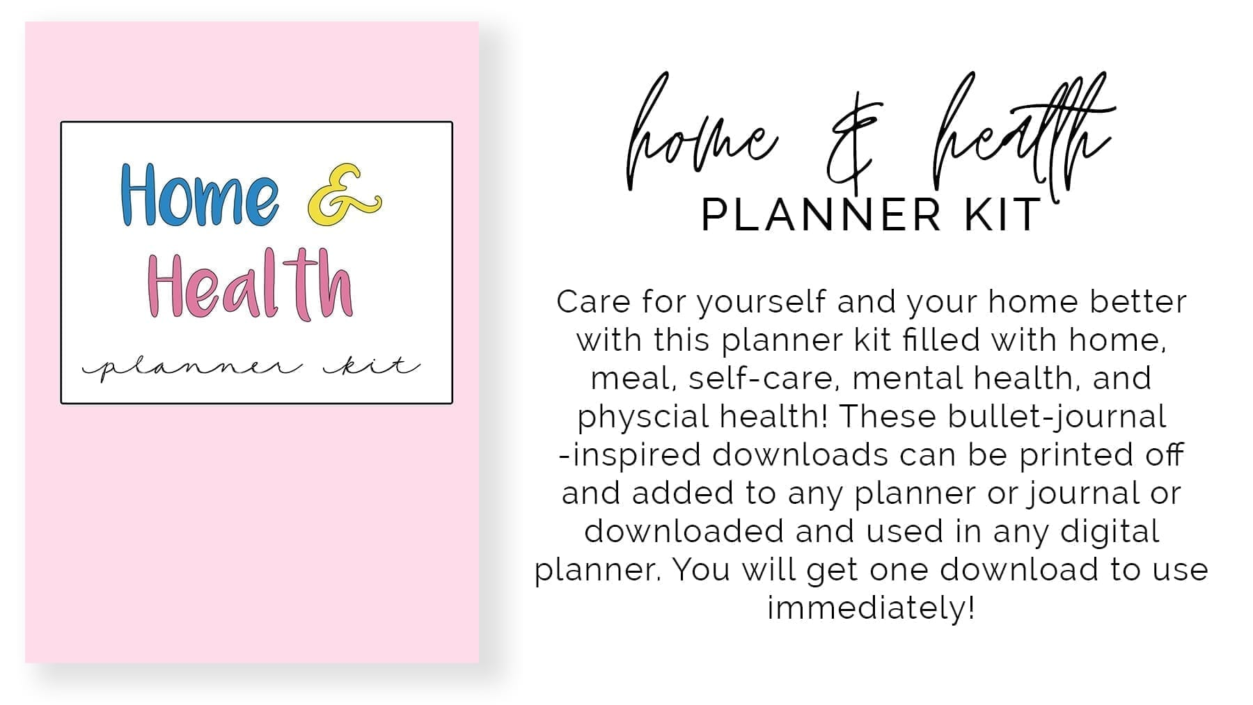 banner 1-title preview-home and health planner kit-product description