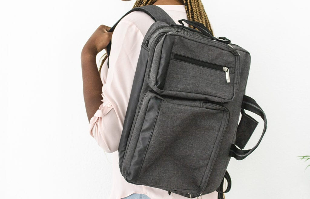 featured image- how to balance school, work, and social in college-a student wearing a black backpack