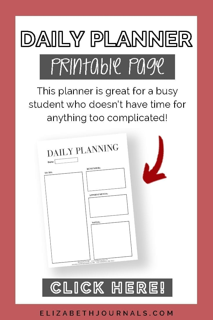 pinterest image 3-daily planner-printable page-preview with arrow pointing to it-click here-elizabethjournals