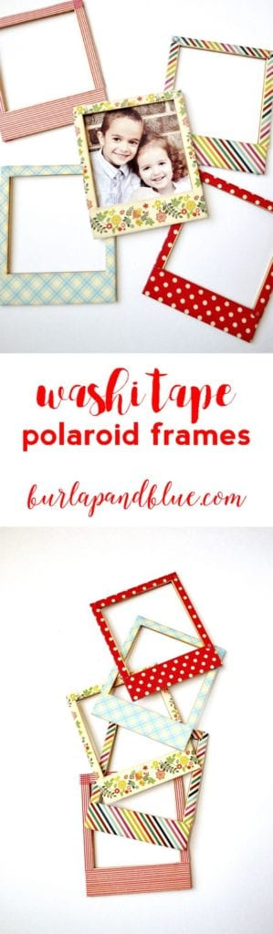 picture frame decorated with washi tape