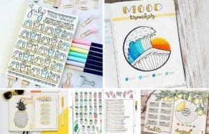 featured collage image showing 5 summer mood tracker ideas